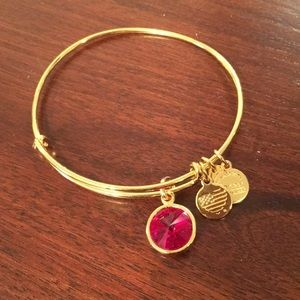 Alex and Ani red stones bracelet